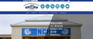 screenshot of home page of NCHS